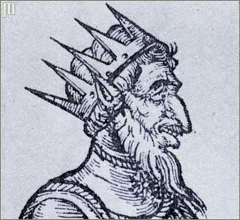 Atila - srednjovjekovni prikaz