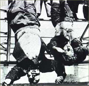 Mussolini i Petacci naglavačke