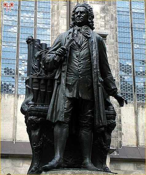 Spomenik J. S. Bachu u Leipzigu, u blizini crkve Sv. Tome