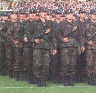 Postrojavanje Zbora narodne garde u svibnju 1991. godine