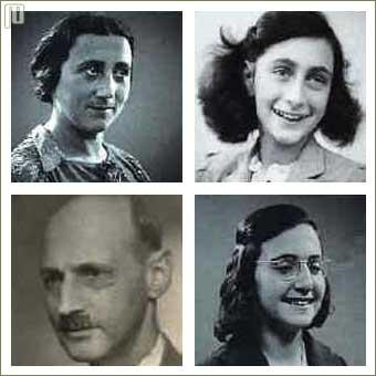 Članovi obitelji Frank 1942. godine