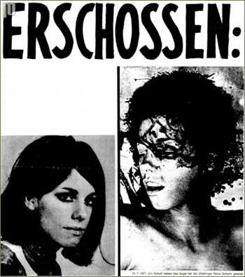 Plakat koji osuđuje ubojstvo Petre Schelm