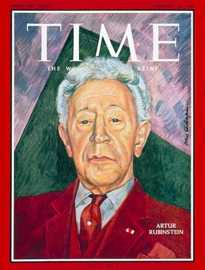 Rubinštajn na naslovnici američkog časopisa Time, 1966. godine