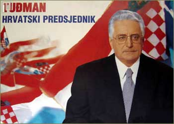 Franjo Tuđman na predizbornom plakatu