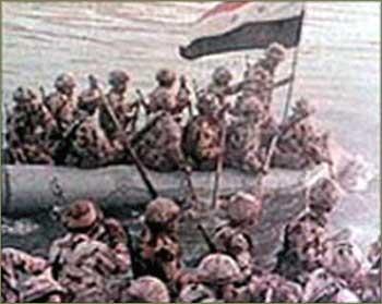 Egipatska vojska prelazi Sueski kanal