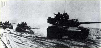 Izraelska kolona tenkova na Sinaju 1967. godine