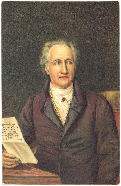 J. W. Goethe na slici iz 1828. godine na slici slikara J. K. Stielera