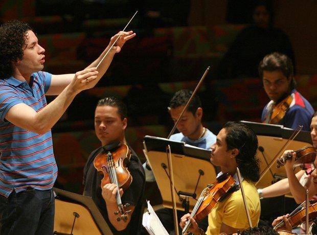 Proba orkestra mladih Simon Bolivar u Škotskoj tijekom nedavna gostovanja