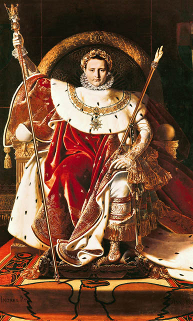 Napoleon na slici francuskoga slikara Jeana Augustea Dominiquea Ingresa (1780.-1867.)