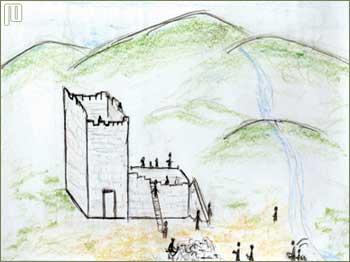 Crtež gradnje crkve