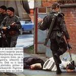 Srpski vojnik cipelari umiruću Muslimanku u Bijeljini 1992.