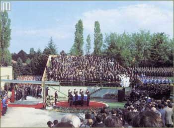 Ukupno je nazočilo 208 delegacija iz 126 zemalja svijeta (8.5.1980.)