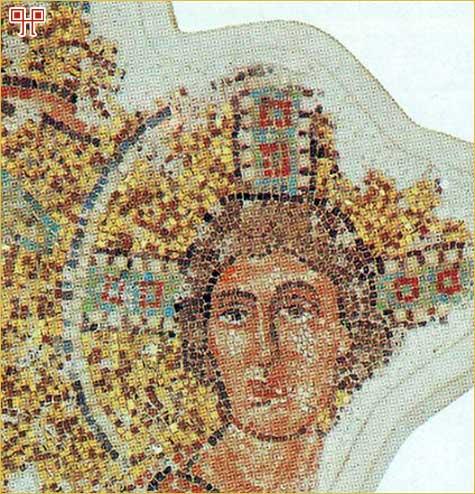Detalj mozaika iz bazilike sv. Marije Formose