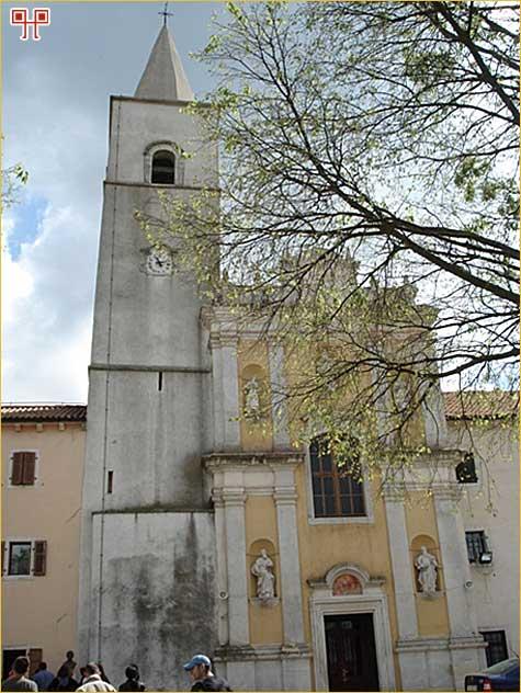 Pročelje pavlinske crkve u Svetom Petru u Šumi sa zvonikom