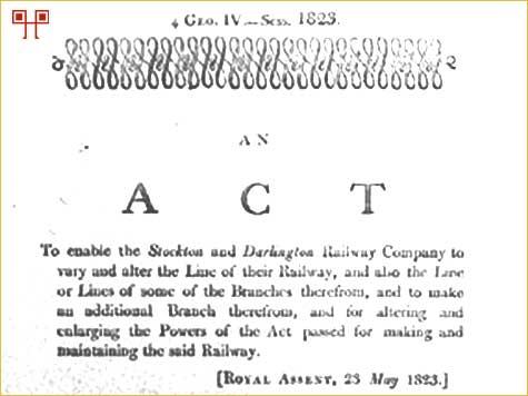 Akt parlamenta od 23. svibnja 1823. kojima se dopušta korištenje 'loco-motiva ili pokretnih strojeva'