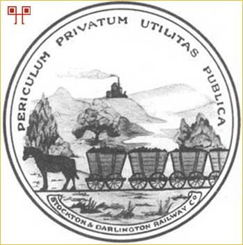 Logotip tvrtke Stockton and Darlington Railway Company