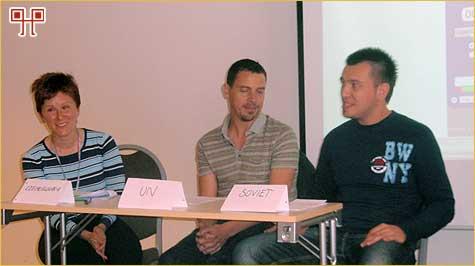 Tinkara Grilc, Martin Musgrove i Jurica Botić - dramatizacija tijekom rada
