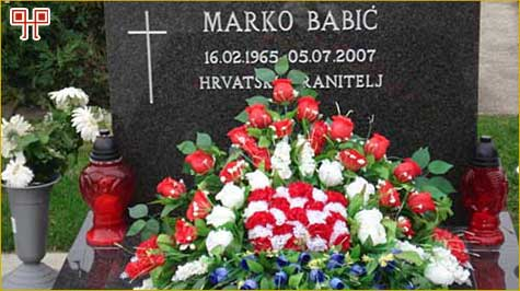 Na grobu Marka Babića, jednog od heroja Vukovara