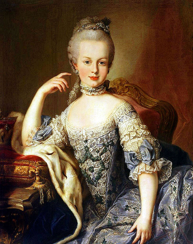 Maria Antoinette stara 12 godina (naslikao: Martin van Meytens, oko 1767.-1768.)