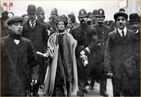 Uhićenje Emmeline Pankhurst u veljači 1908. godine