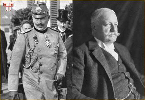 Car Wilhelm II i Bernhard von Bulow