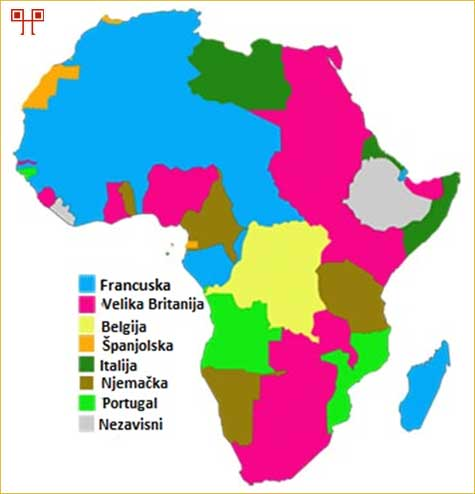 Kolonijalni posjedi europskih država u Africi početkom 20. stoljeća