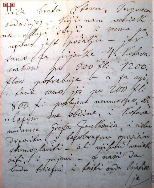 Maljevac je tražio i dobio dodatnih 1.000 forinti za kampanju od Vakanovića (HDA,777,III, 13.5.1872.)