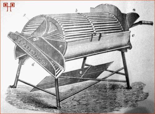 Stroj za pranje voća koji se koristio krajem 19.st.