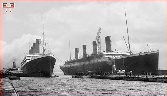 Olympic i Titanic na doku