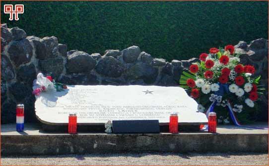 Posljednje počivalište Bože Leinera i njegovih drugova na gradskom groblju u Ludbregu