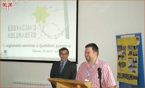 Glavni organizatori Pal i Hajdarovic na zatvaranju seminara