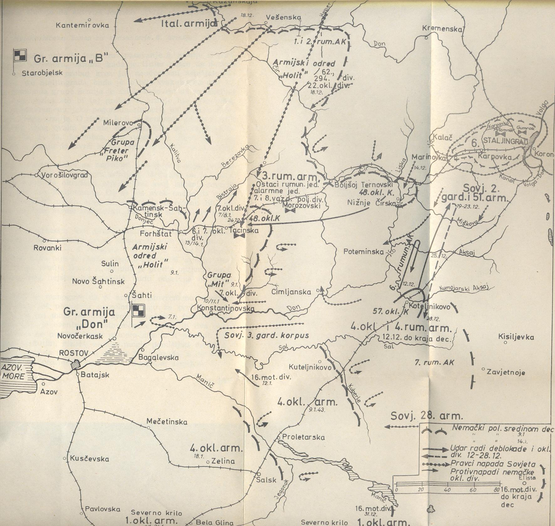 Situacije tijekom prosinca 42 i siječnja 43