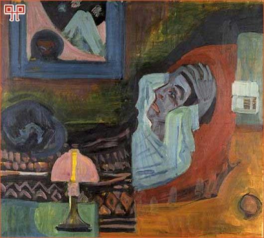 Ernst Ludwig Kirchner, Kranker in der Nacht; Der Kranke, 1920