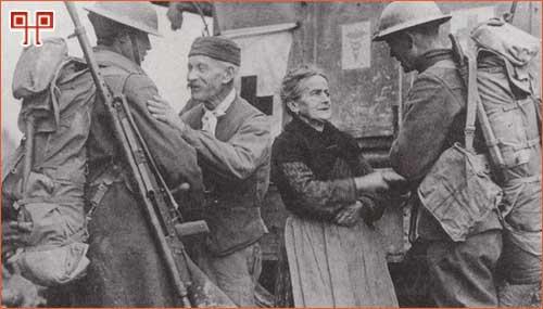 Susret američkih vojnika i francuskih civila