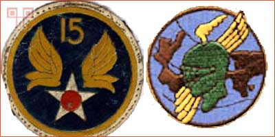 Emblemi koje su tijekom Drugog svjetskog rata koristili pripadnici 15. grupe Zračnih snaga i pripadnici 450. bombarderske grupe