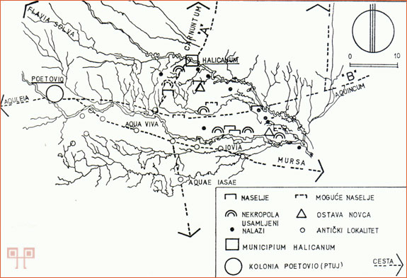 Antički cestovni pravci kroz Međimurje (TOMIČIĆ 1986a: 200)