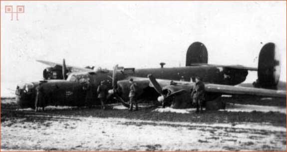 Srušeni B-24 Liberator – pogled sa druge strane