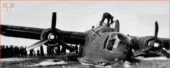Srušeni B-24 Liberator na polju kraj Vratišinca