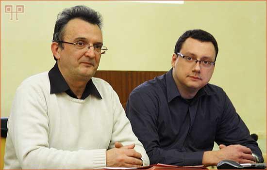 Maurizio Levak, predsjednik i Milan Radošević, tajnik Društva
