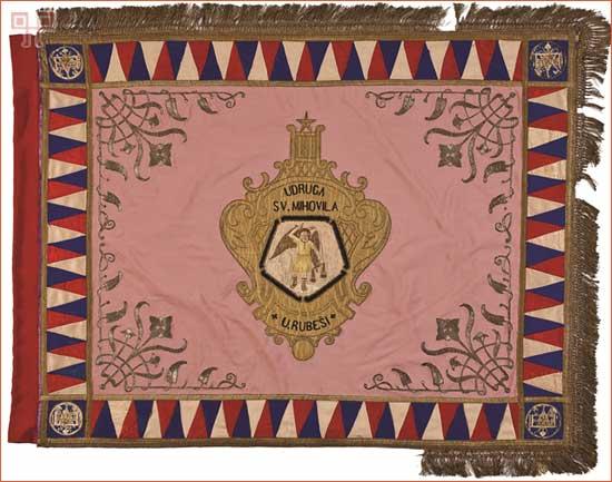 Avers zastave udruge Sv. Mihovil iz Rubeši