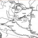 Glavni prometni pravci kroz Panoniju (BUZOV 2005: 138)