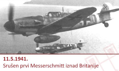 Britanci su na današnji dan 1941. oborili prvi Messerschmidt 109F