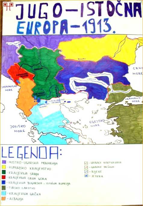 Jugoistočna Europa 1913. godine