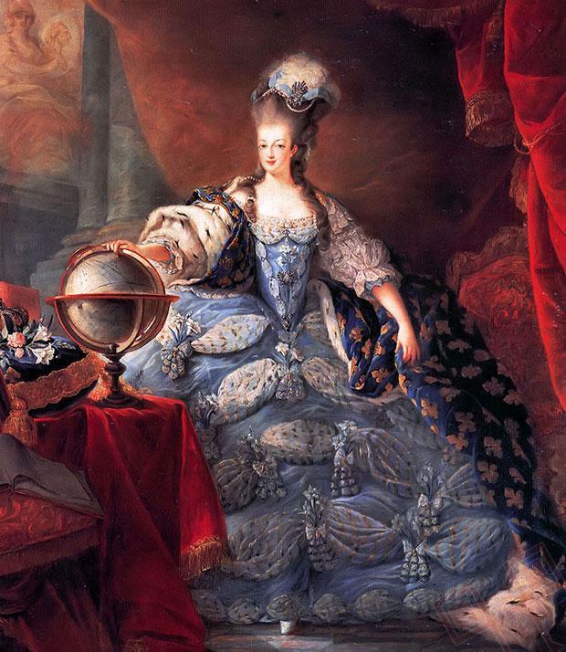 Marie Antoinette u krunidbenoj odjeći (naslikao Jean-Baptiste Gautier Dagoty, 1775.)