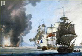 Favorite u plamenu (naslikao G. Weber 1812.g.)