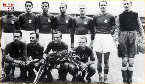 Nogometna reprezentacija NDH 07. rujna 1941. godine u Bratislavi