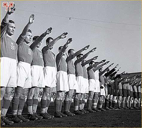 Početak dvoboja između nogometnih reprezentacija NDH i Slovačke Republike (08. kolovoz 1942.)