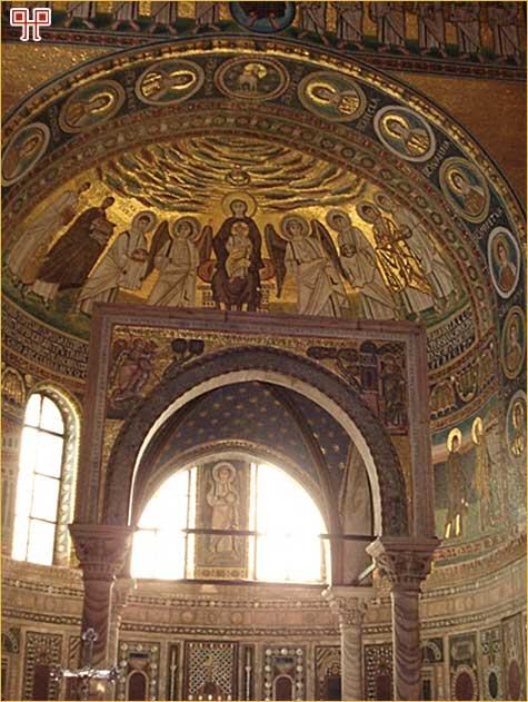 Mozaik u glavnoj apsidi Eufrazijeve bazilike