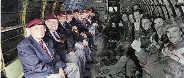 Padobranci u istom zrakoplovu nakon 70 godina
