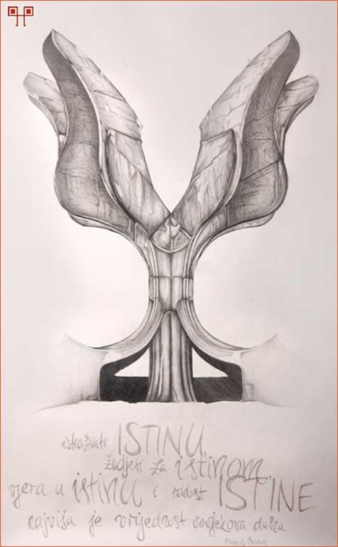 Crtež: Antonio Kutleša, 4. razred, grafički odjel – Tekst: Nikolina Bahunek, 4. razred, grafički odjel